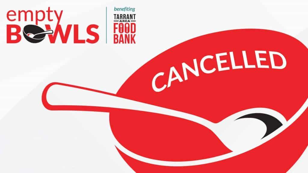Empty Bowls Canceled